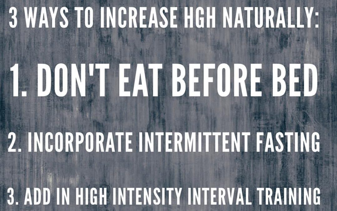3 Ways To Increase HGH Naturally