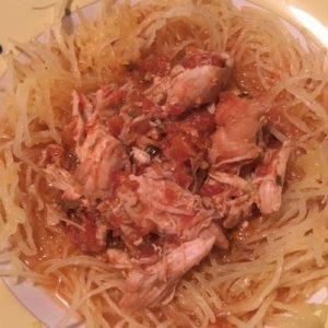 Salsa Chicken Spaghetti Squash